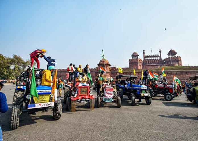 Tractors at Red Fort Tractor Parade