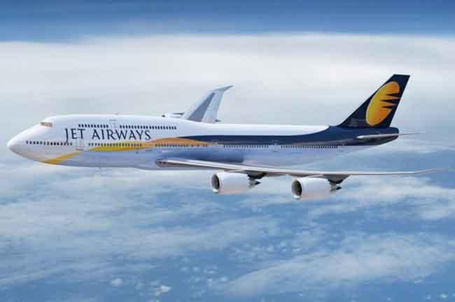 Jet Airways in Sky