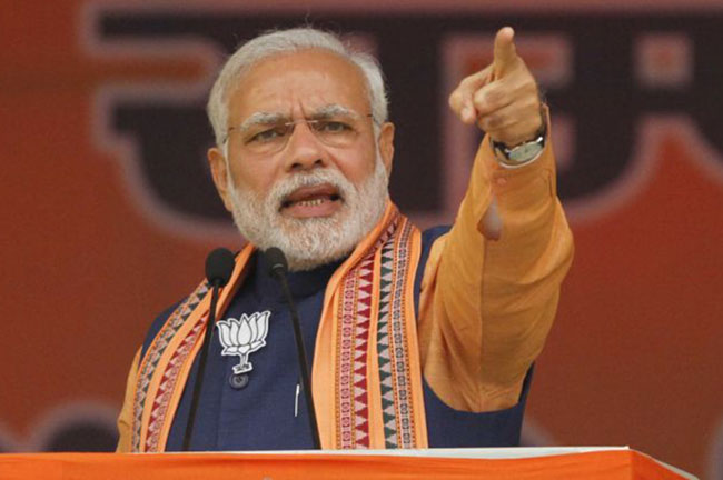 Narender Modi Pointing