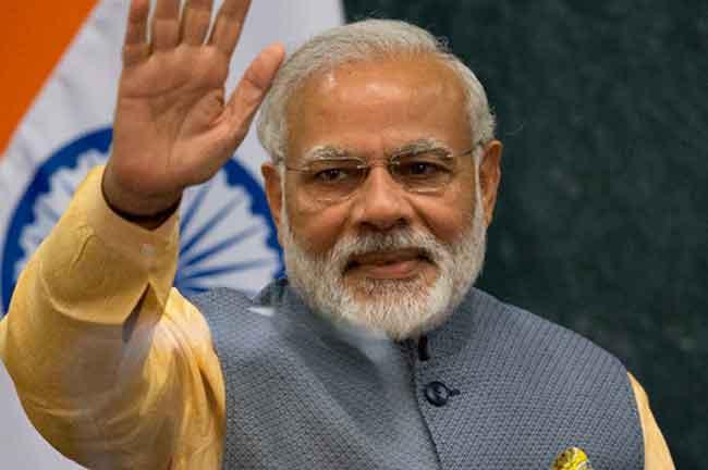 Narender Modi Waving