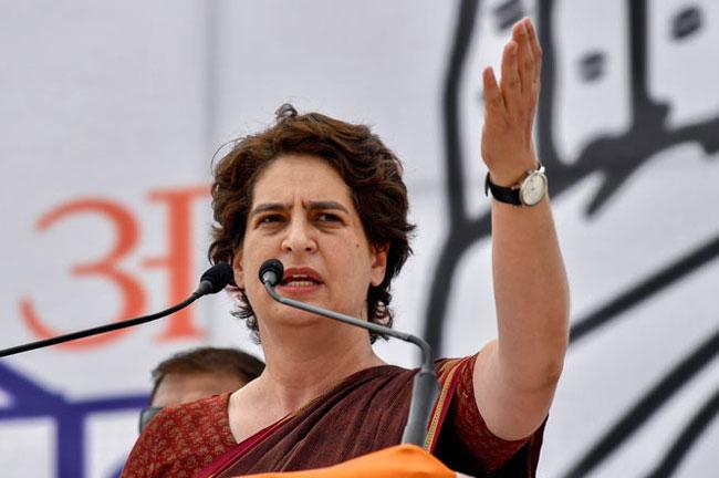 Priyanka Gandhi at Rally