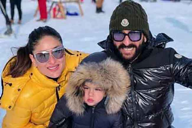 Saif Kareena Taimur Winter