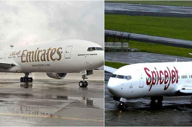 SpiceJet Emirates Planes