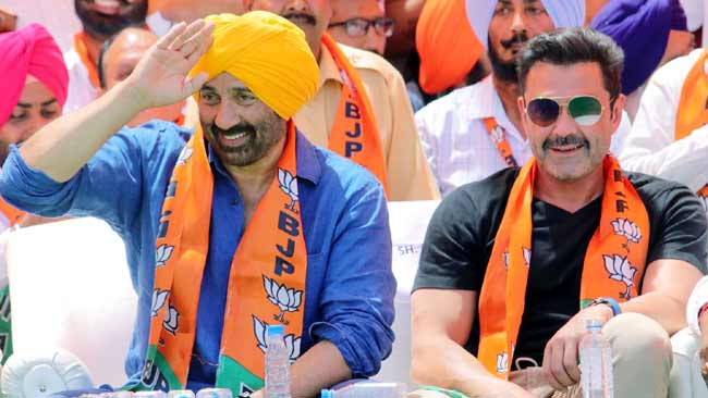 Sunny Boby Deol 1 Nomination Rally