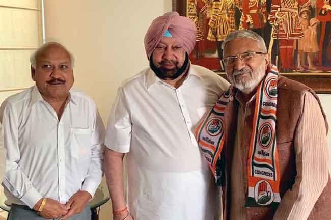 Vijay Saathi Joins Congress Amarinder
