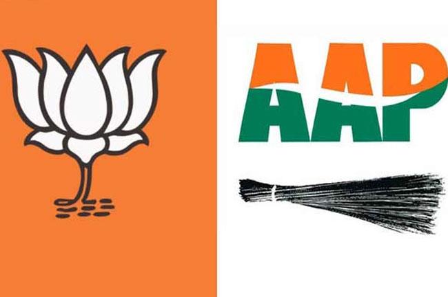 BJP AAP Logo