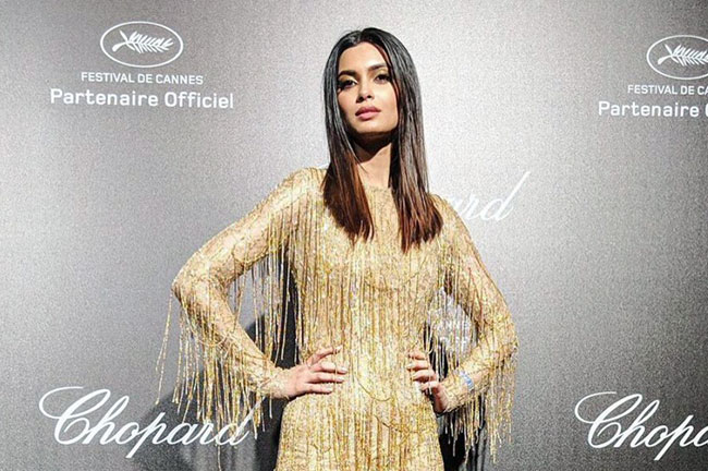 Diana Penty Gold Cannes