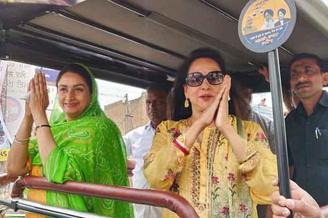 Hema Malini Harsimrat Mansa Roadshow
