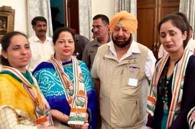 Manjit Kaur Joins Congress Amarinder