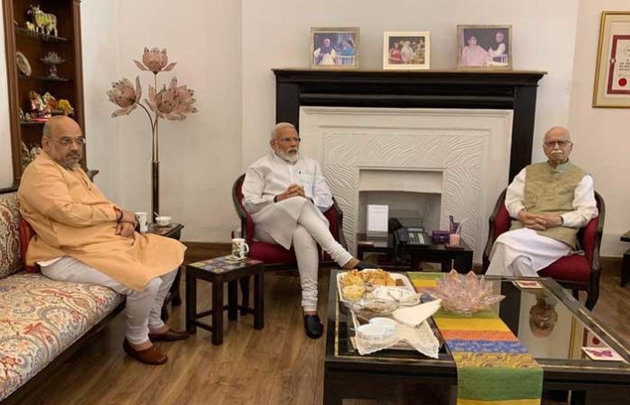 Modi Advani Amit Shah