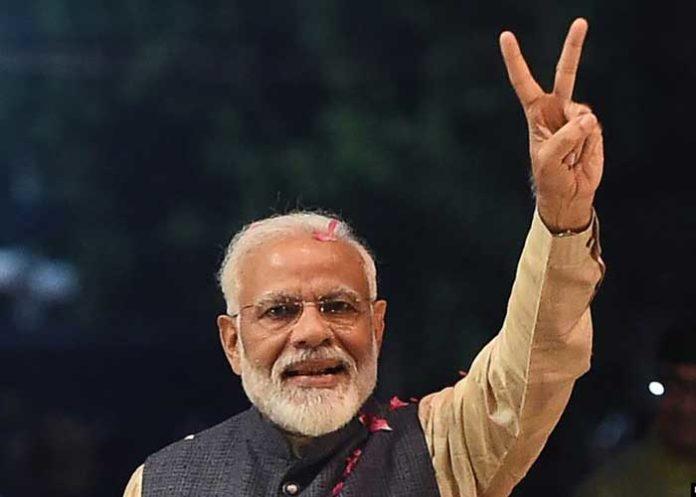 Modi Victory Sign