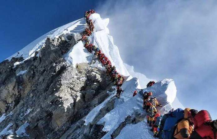 Mount Everest Traffic Jam