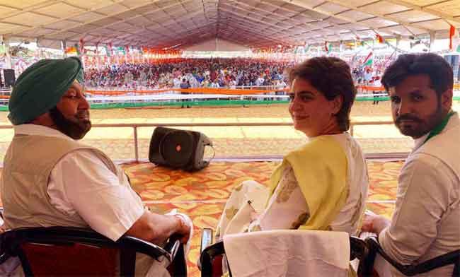 Priyanka Amarinder Bathinda Rally