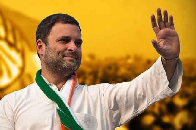 Rahul Gandhi Waving