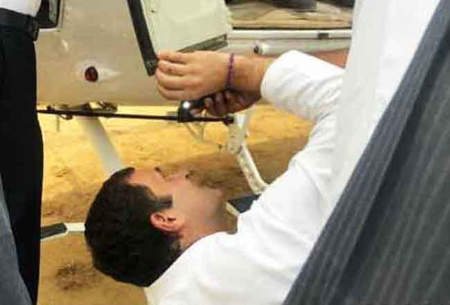 Rahul Gandhi fix chopper