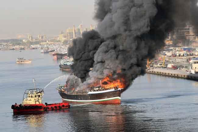 Sharjah Cargo Ship Fire