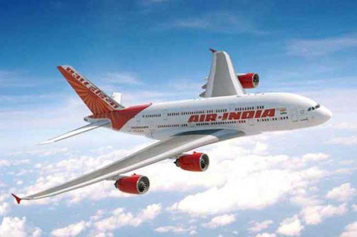 Air India in sky