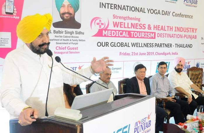 Balbir Sidhu Int Yoga Day Conference