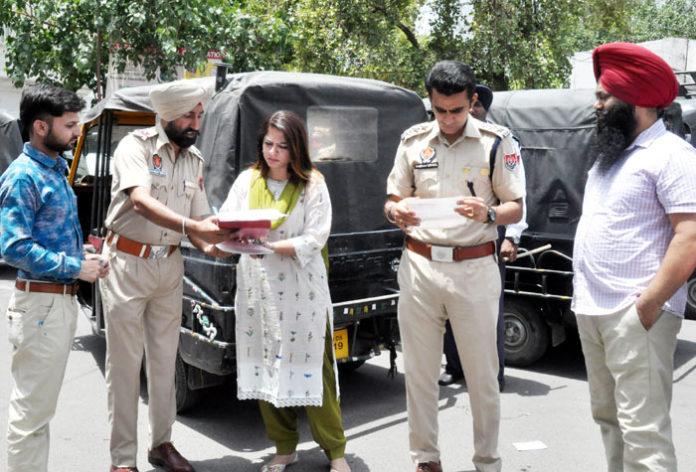 Jalandhar admin crackdown Autho Rickshaws