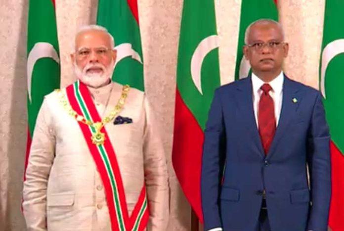 Modi Maldives Nishan Izzuddeen