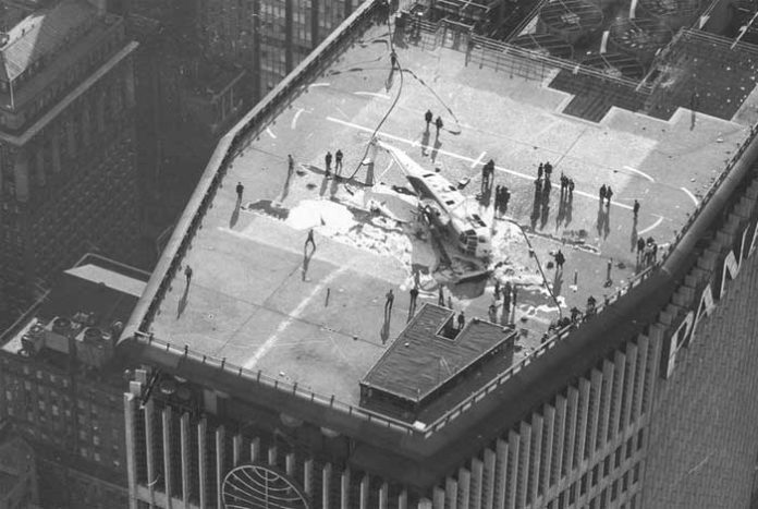 New York building helicopter crash