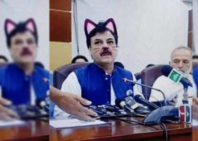 Pakistani Minister Cat Filter