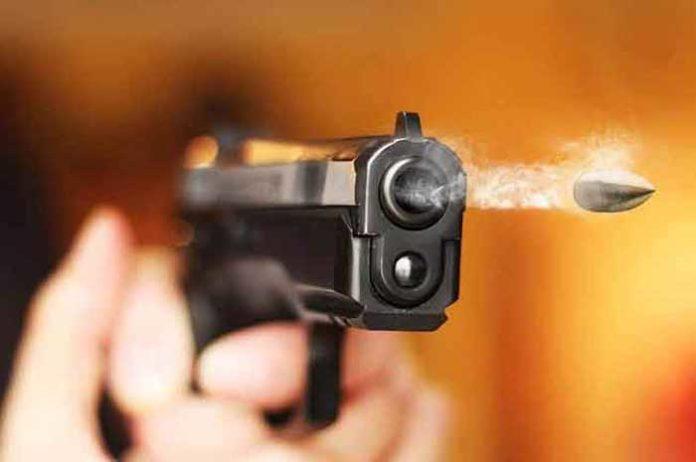 Pistol Firing Bullet