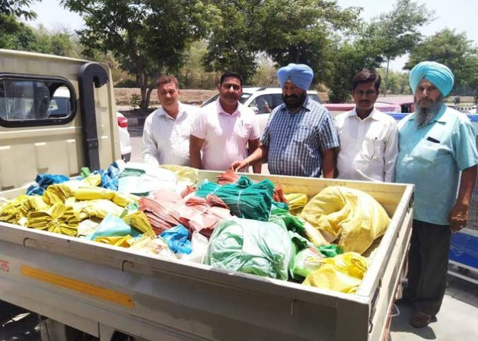 Plastic carry bags seized in raids
