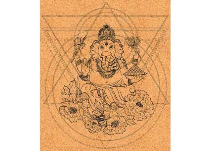 Platinum Sun Ganesha Cork Yoga Mat