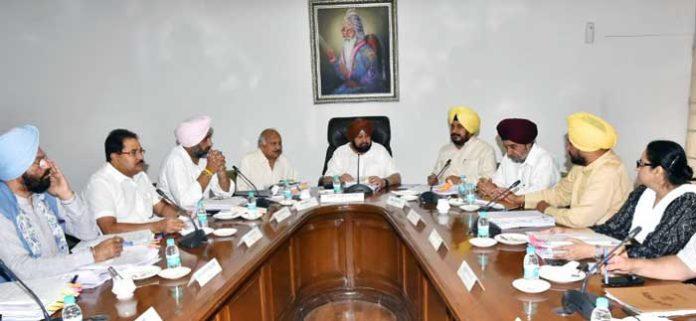 Punjab Cabinet Meeting 6Jun19 1