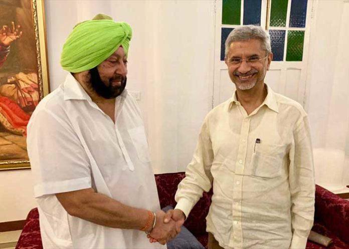 Amarinder Jaishankar Handshake