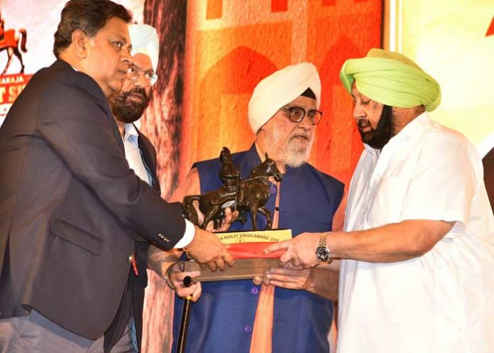 Amarinder Maharaja Ranjit Singh Award 2019 1