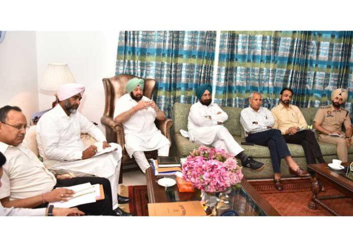 Amarinder prison security system meeting