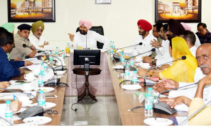 Balbir Singh Sidhu at meeting
