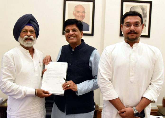 Dr Amar Singh meets Piyush Goyal