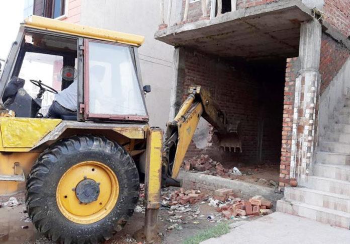 JDA demolishes illegal buildings outskirts 1 Jalandhar
