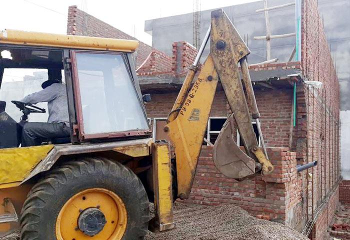 JDA demolishes illegal buildings outskirts 2 Jalandhar