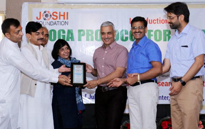 Joshi Foundation introduces Yoga Protocol