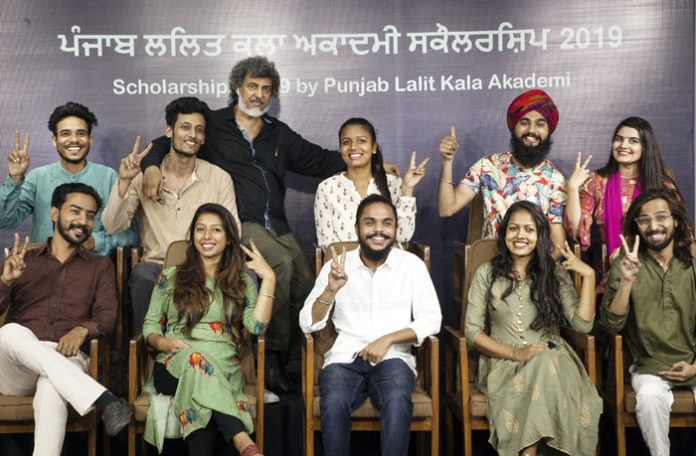 Punjab Lalit Kala Akademi Scholarship Students