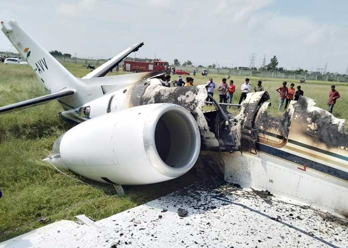 Aircraft crashes in Aligarh