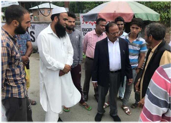 Ajit Doval with Sheep trader Anantnag