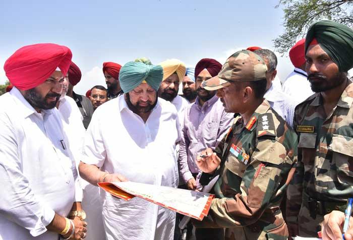 Amarinder Army Flood affect village Sultanpur Lodhi