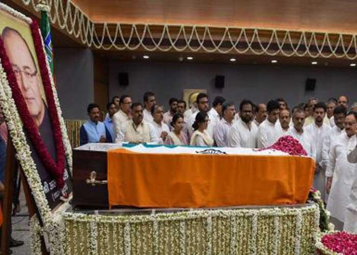 Arun Jaitley Body BJP HQ