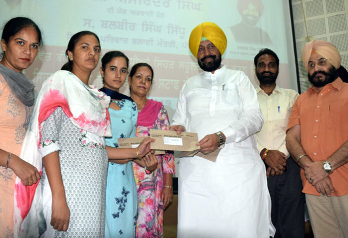Balbir Singh Sidhu hands over Appointment letters