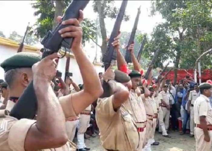 Bihar Police fail gun salute Jagannath Mishra
