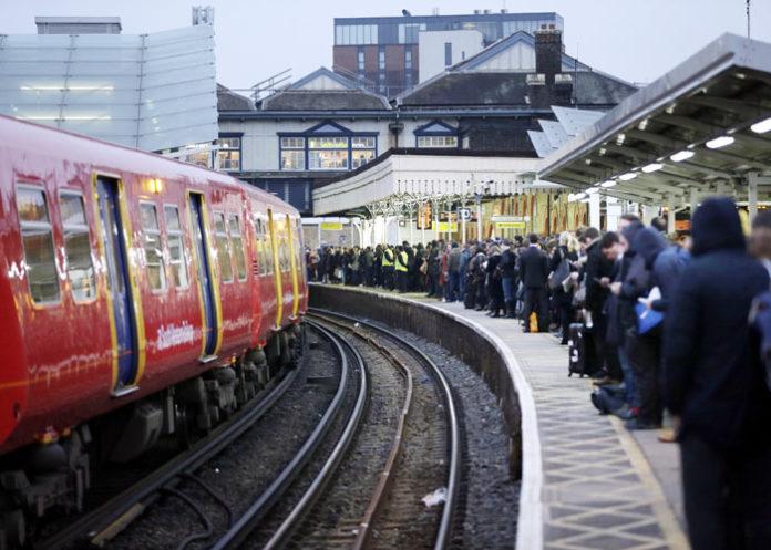 Britain London Railway Strike