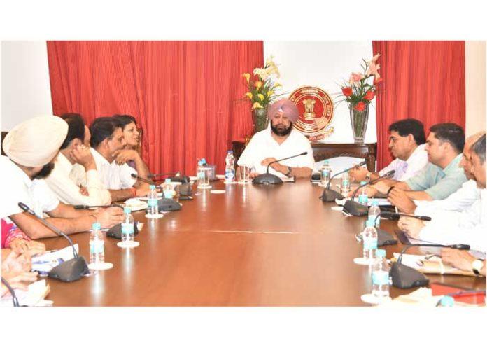 Capt Amarinder PPIS Review Meeting