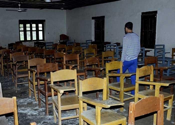 Empty School in Jammu Kashmir