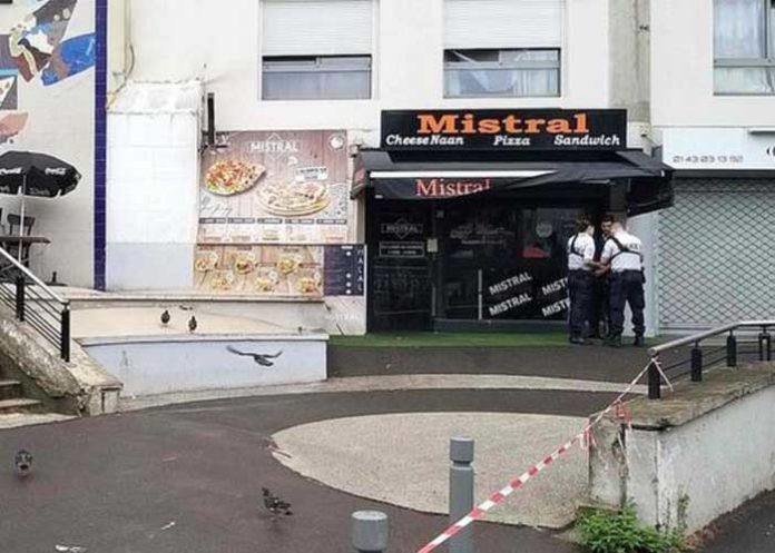 French waiter shot dead