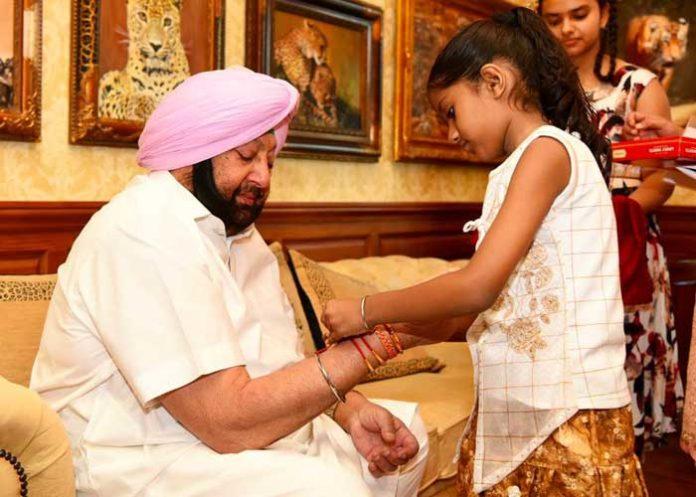 Girl Tie Rakhi to Amarinder 2019